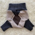Large Argyle Wool Nappy Cover
