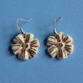 White Flower Power Earrings