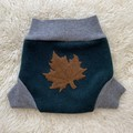 Large Maple Leaf Wool Nappy Cover