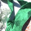 Girls green and orange tote