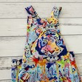Painted Tiger Summer Romper, Size 0, Baby Boy Playsuit