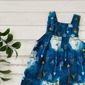 Lone Wolf Overalls, Size 0, Baby Boy Dungarees, Baby romper