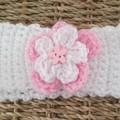 White Crochet Baby Headbands