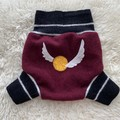 Large HP Golden Snitch Wool Nappy Cover