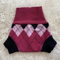 Medium Argyle Wool Nappy Cover