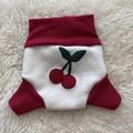 Medium Cherries Wool Nappy Cover