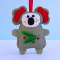DIGITAL SEWING PATTERN Felt Christmas Koala Ornament, Australian animal
