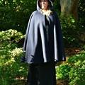 Wool Cloak Short Navy - Pure Wool