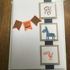 Zoo Animals Birthday Card