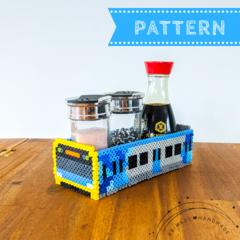 Metro Train Condiments Holder / Bathroom Vanity Tray (pattern download)