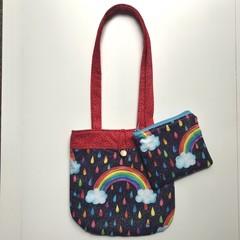Sparkly rainbows handbag and purse