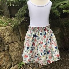 Spring flowers girls skirt