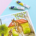 "Giclee art print ""Kangaroo Love"" watercolour fine art print"