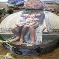 Photo on Wood Slice, Free Shipping, Personalised Photo Gift, Fathers Day Gift