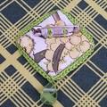 Vintage cutter sweet butterfly doily brooch