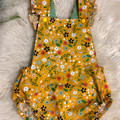 MUSTARD FIELDS FRILL ROMPER, Size 00, 0 and 1  available