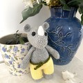 Crochet rhino Doll, Hand Knitted Softie, Rhinoceros