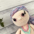 Crochet mermaid Doll, Hand Knitted Softie