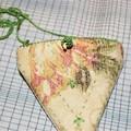 Vintage linen pouchette