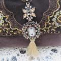 Women's Ladies Clutch Purse - Evening/Wedding/Cocktail - Cotton Velvet w Beading