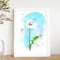 'Wish You Were Here' Watercolour Digital Painting, Instant Download
