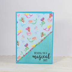 Mermaids Birthday Card, Kids Birthday Card