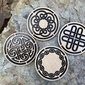 Coasters: Celtic Knot From $2.90 per Coaster delivered.