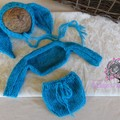 angora newborn bunny bonnet set