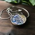 Handmade Sterling Silver ARt Resin Pendant OOAK