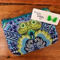 Frog Earring & Coin Purse Gift Set
