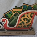3D Mandala Christmas Sleigh - 290mm wide x 200mm tall.