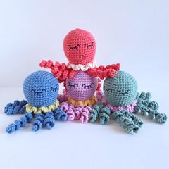 Octopus rattle toy. Marine, ocean, sea theme gift.