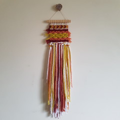 Hand woven wall hanging - tequila sunrise