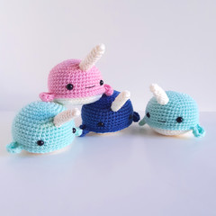 Narwhal soft toy. Marine, ocean, sea themed decor or toy
