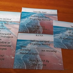 BEACH THEMED WEDDING STATIONERY PACKAGE (Print @ Home)