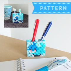 Cute Whale & Wave Pen Stand / Toothbrush Holder (pattern download)