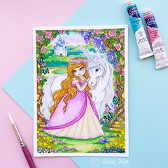 "Giclee art print ""The Enchanted Garden"" fantasy watercolour print"