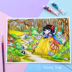 "Large art print ""Snow White"" fairytale fine art print"