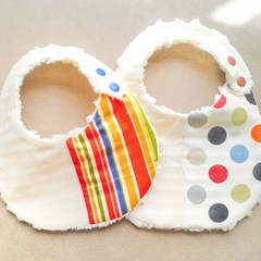Original H&H Design Cotton Baby bib*Flannel back lining*ONE &ONLY*Made to order