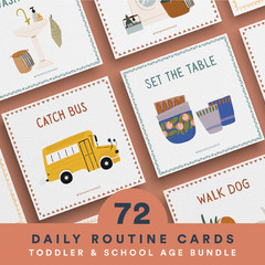 Toddler Routine Cards Digital Download