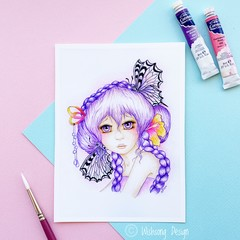 "Giclee art print ""Lavender Dreams"" watercolour art print"