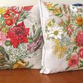 Vintage Retro Wildflowers Cushion