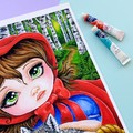 """Limited Edition Print """"Little Red"""" fairytale acrylic painting, fine art print"""