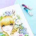 "Large art print ""The Water Nymph"" fantasy watercolour art print"