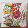 Vintage Retro Wildflowers Cushion