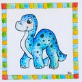 "Medium art print ""Brontosaurus"" square art print"