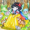 "Large art print ""Snow White"" fairytale fine art print"