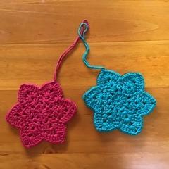 Set of 2 Christmas Star Decorations