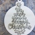 Christmas Baubles. Engraved each side. From $3.85 per Bauble