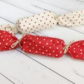 Fabric Christmas Crackers, Reusable bonbons, Christmas Table decorations